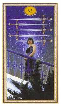 Five of Wind Tarot Card - Gendron Tarot Deck