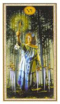 Six of Swords Tarot Card - Gendron Tarot Deck