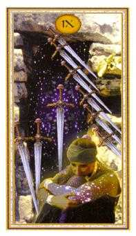 Nine of Arrows Tarot Card - Gendron Tarot Deck