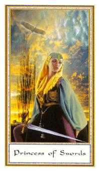 Daughter of Swords Tarot Card - Gendron Tarot Deck