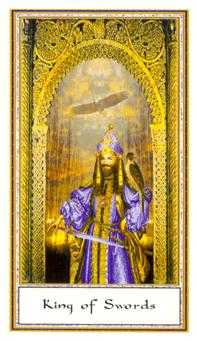 Roi of Swords Tarot Card - Gendron Tarot Deck
