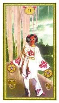 Two of Diamonds Tarot Card - Gendron Tarot Deck
