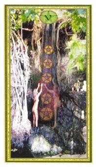 Five of Buffalo Tarot Card - Gendron Tarot Deck