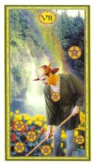 Seven of Pentacles Tarot Card - Gendron Tarot Deck