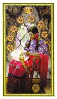 Eight of Stones Tarot Card - Gendron Tarot Deck