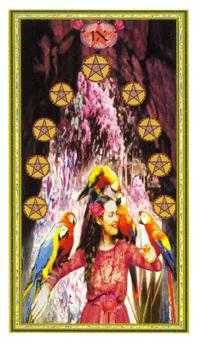 Nine of Coins Tarot Card - Gendron Tarot Deck