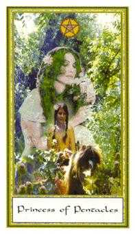 Daughter of Coins Tarot Card - Gendron Tarot Deck