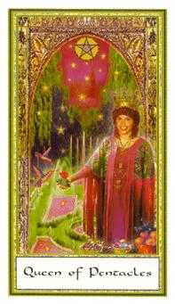 Queen of Coins Tarot Card - Gendron Tarot Deck