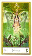 Justice Tarot card in Gendron Tarot deck