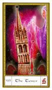 The Tower Tarot card in Gendron Tarot deck