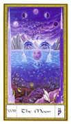 The Moon Tarot card in Gendron Tarot deck