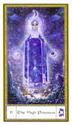 The High Priestess Tarot card in Gendron deck