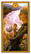 Two of Wands Tarot card in Gendron deck