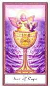 Ace of Cups Tarot card in Gendron Tarot deck