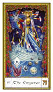 The Emperor Tarot card in Gendron Tarot deck