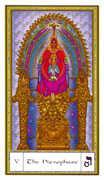 The Hierophant Tarot card in Gendron Tarot deck