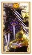 Nine of Swords Tarot card in Gendron Tarot deck