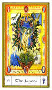 The Lovers Tarot card in Gendron Tarot deck