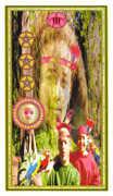 Three of Coins Tarot card in Gendron Tarot deck