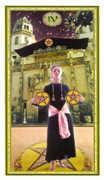 Four of Coins Tarot card in Gendron Tarot deck