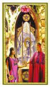 Six of Coins Tarot card in Gendron Tarot deck