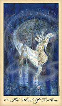 The Wheel of Fortune Tarot Card - Ghosts & Spirits Tarot Deck