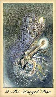 The Hanged Man Tarot Card - Ghosts & Spirits Tarot Deck