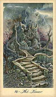 The Falling Tower Tarot Card - Ghosts & Spirits Tarot Deck
