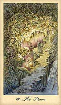 The Moon Tarot Card - Ghosts & Spirits Tarot Deck