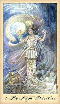 The High Priestess Tarot Card - Ghosts & Spirits Tarot Deck