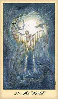 The World Tarot Card - Ghosts & Spirits Tarot Deck
