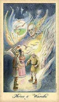 Three of Pipes Tarot Card - Ghosts & Spirits Tarot Deck