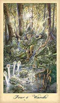 Four of Wands Tarot Card - Ghosts & Spirits Tarot Deck