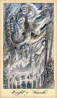 Eight of Batons Tarot Card - Ghosts & Spirits Tarot Deck