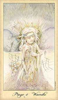 Valet of Batons Tarot Card - Ghosts & Spirits Tarot Deck