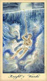 Knight of Staves Tarot Card - Ghosts & Spirits Tarot Deck