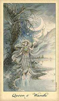 Queen of Staves Tarot Card - Ghosts & Spirits Tarot Deck