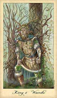 King of Staves Tarot Card - Ghosts & Spirits Tarot Deck