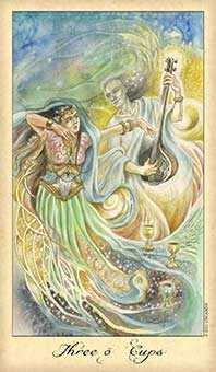 Three of Cups Tarot Card - Ghosts & Spirits Tarot Deck