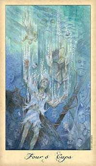 Four of Water Tarot Card - Ghosts & Spirits Tarot Deck