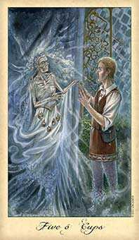 Five of Ghosts Tarot Card - Ghosts & Spirits Tarot Deck