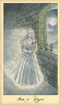 Six of Hearts Tarot Card - Ghosts & Spirits Tarot Deck