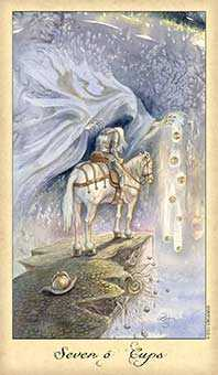 Seven of Cups Tarot Card - Ghosts & Spirits Tarot Deck
