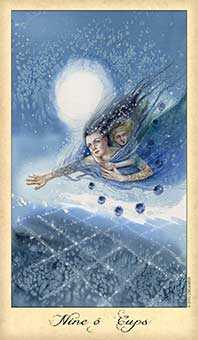 Nine of Ghosts Tarot Card - Ghosts & Spirits Tarot Deck