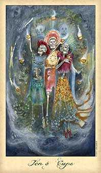 Ten of Cauldrons Tarot Card - Ghosts & Spirits Tarot Deck