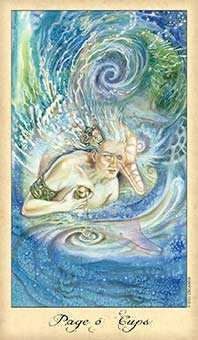 Page of Hearts Tarot Card - Ghosts & Spirits Tarot Deck