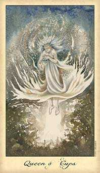 Reine of Cups Tarot Card - Ghosts & Spirits Tarot Deck