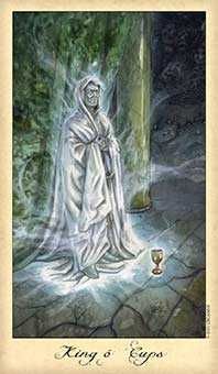 Shaman of Cups Tarot Card - Ghosts & Spirits Tarot Deck
