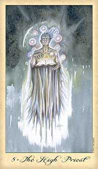 The High Priest Tarot Card - Ghosts & Spirits Tarot Deck