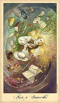 Ace of Wind Tarot Card - Ghosts & Spirits Tarot Deck